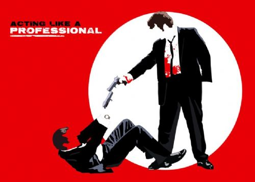 1990's Movie - RESERVOIR DOGS - GUNS RED ART canvas print - self adhesive poster - photo print
